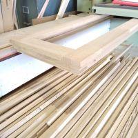 Étape de création d'une fenêtre en chêne