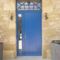 Porte d'entrée bois artisanale